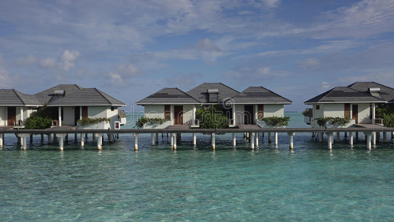 Water bungalows on Sun island resort , Maldives stock photography