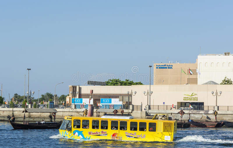 Water bus Dubai Creek stock image
