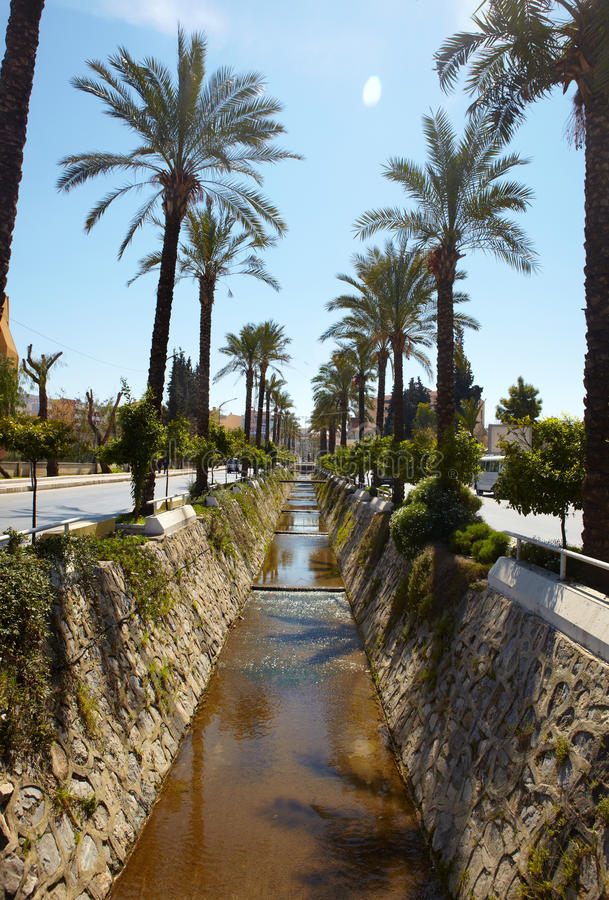 Download Water canal stock image. Image of palms, sunlight, sunshine - 16913943