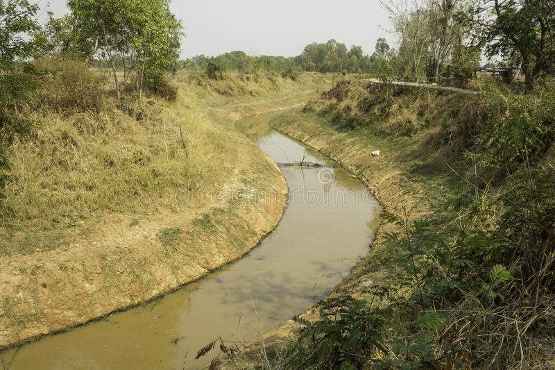 Dry canal royalty free stock photography