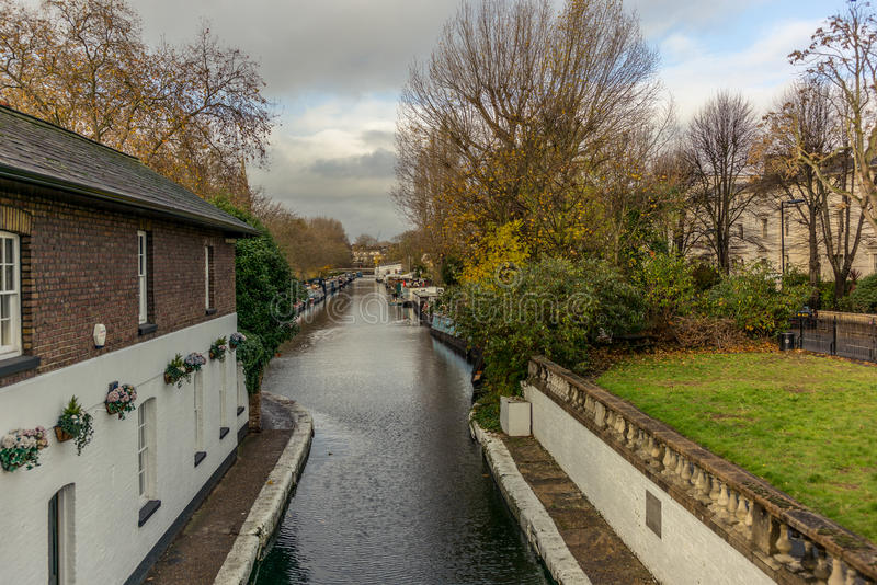 Water Canal and reflections in Little Venice in London - 8. Water Canal and reflections in Little Venice in London in Autumn - 8 royalty free stock images