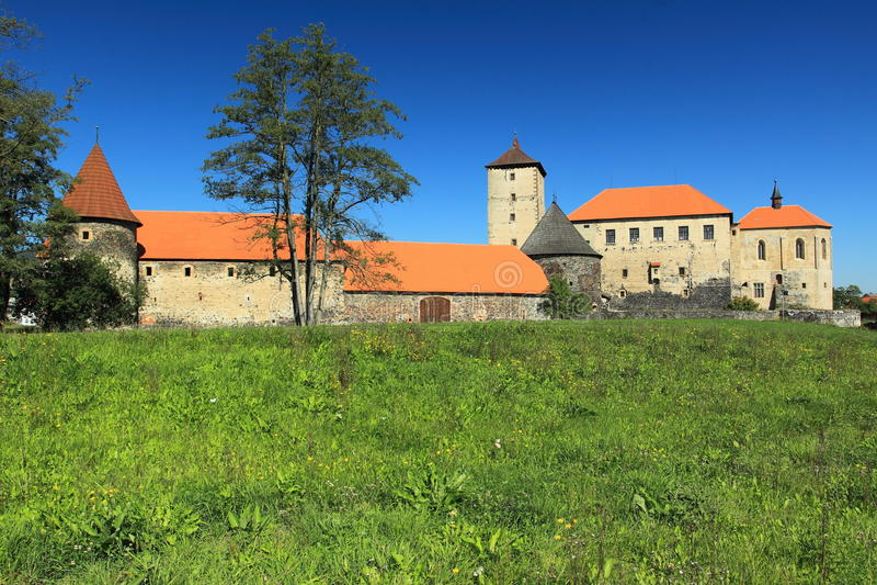 Water castle Svihov stock image