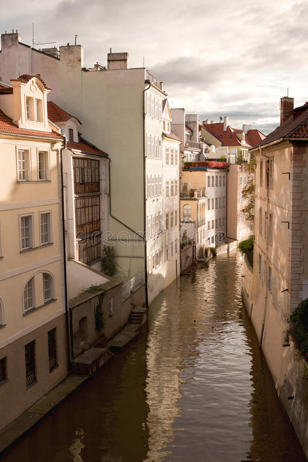 Water Channel In Prague Stock Photography