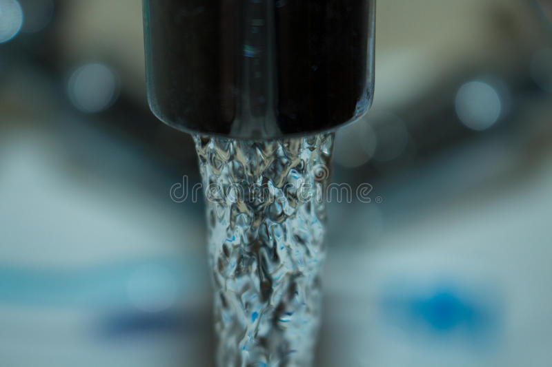 Water Charges. Close up of tab water , water charges comming to Ireland stock photo