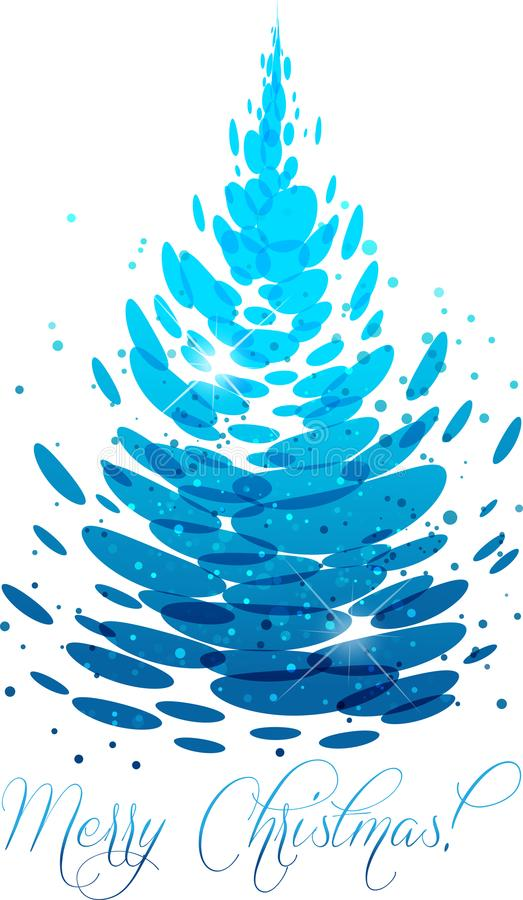 Water Christmas tree royalty free illustration