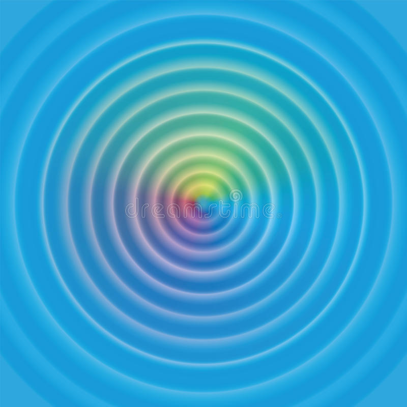 Water Circular Waves Rainbow Surface royalty free illustration