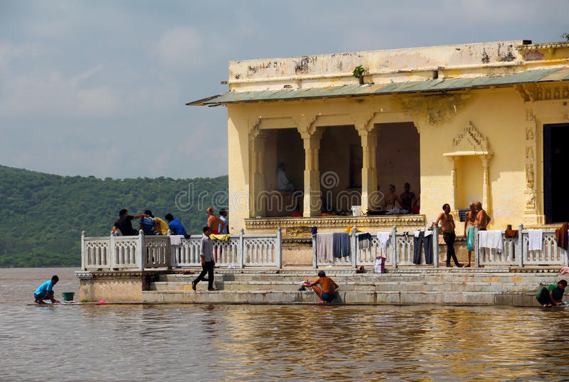 The water city: udaipur stock image