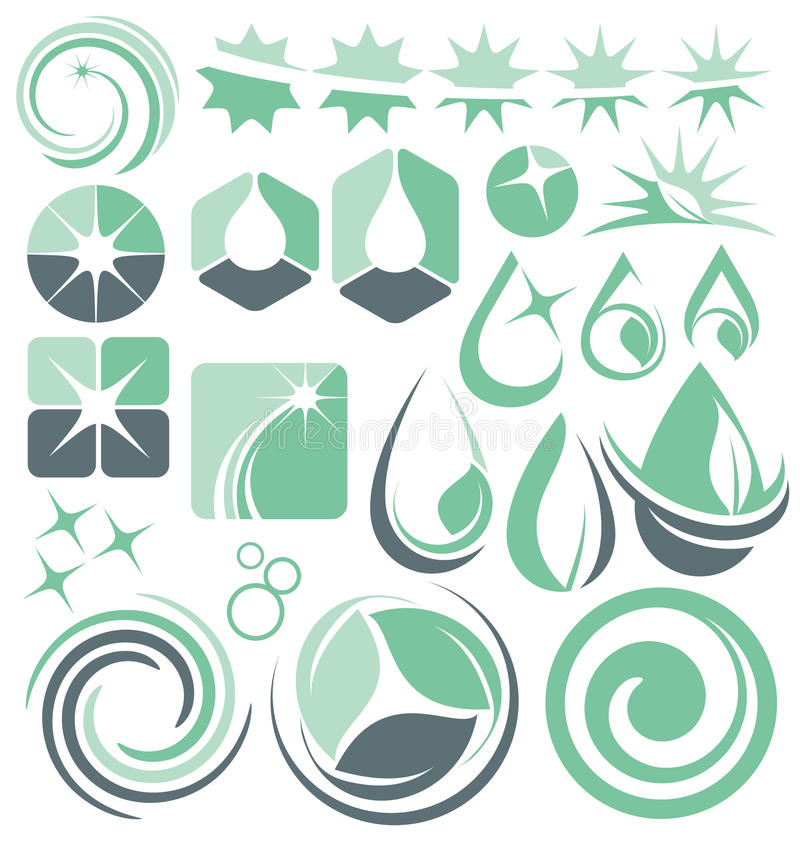 Water and cleaning logo design concepts vector illustration