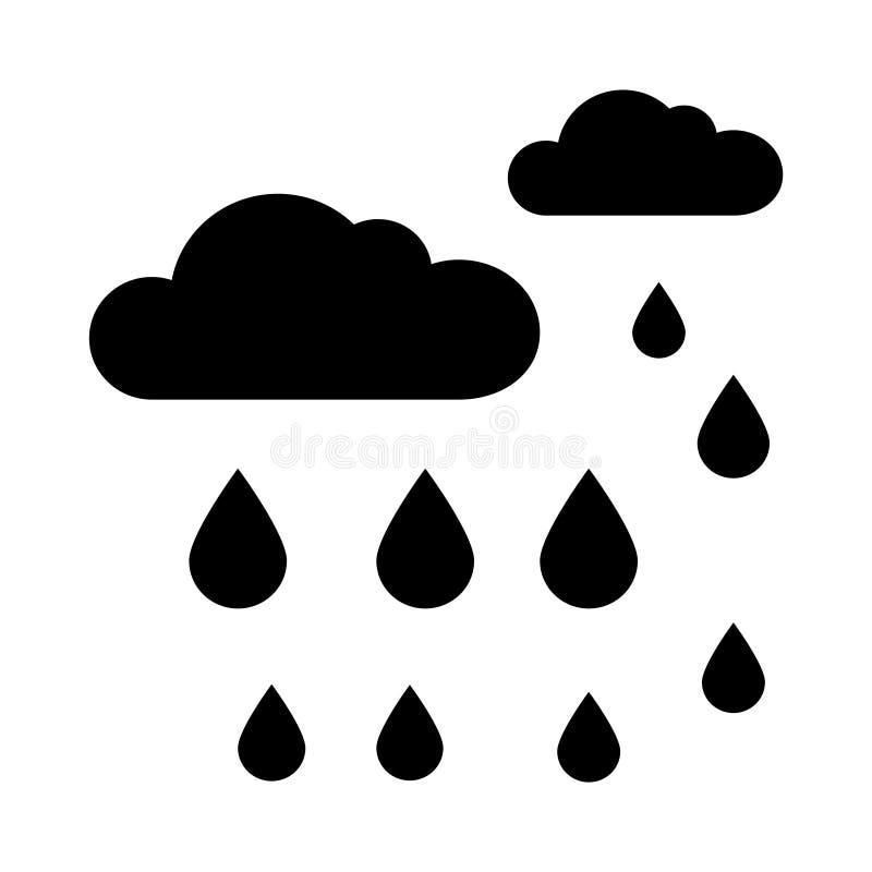 Rain Cloud Symbol Stock Illustration Illustration Of Hard 107375812
