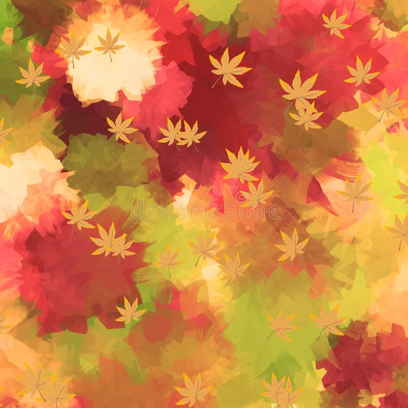 Water color autum background royalty free illustration