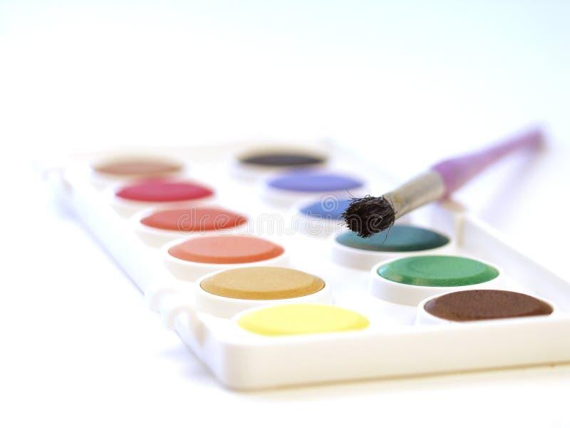 Water-colors fotografia de stock