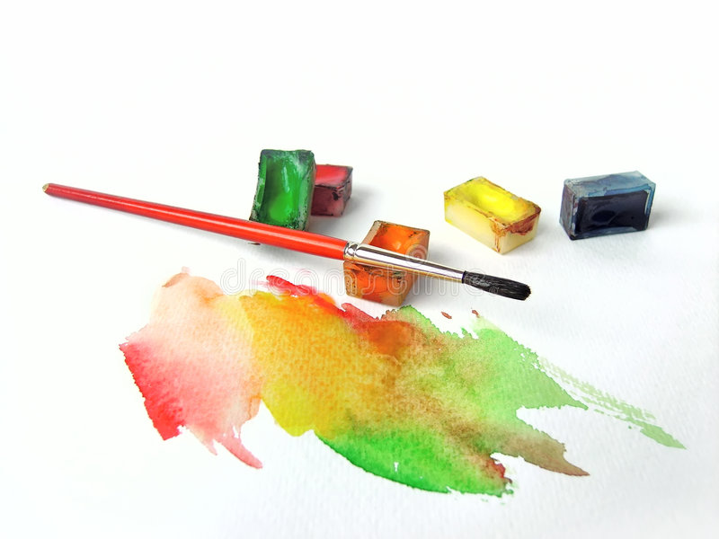 Download Water colors stock image. Image of animal, paper, colored - 6165153