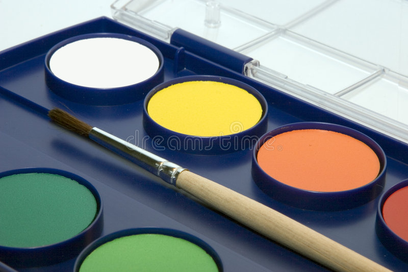 Download Water-colour box stock image. Image of pallet, artistic - 179647