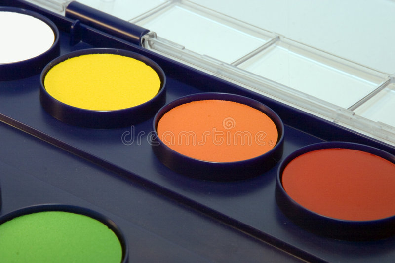 Download Water-colour box stock photo. Image of objects, paint, thick - 179652