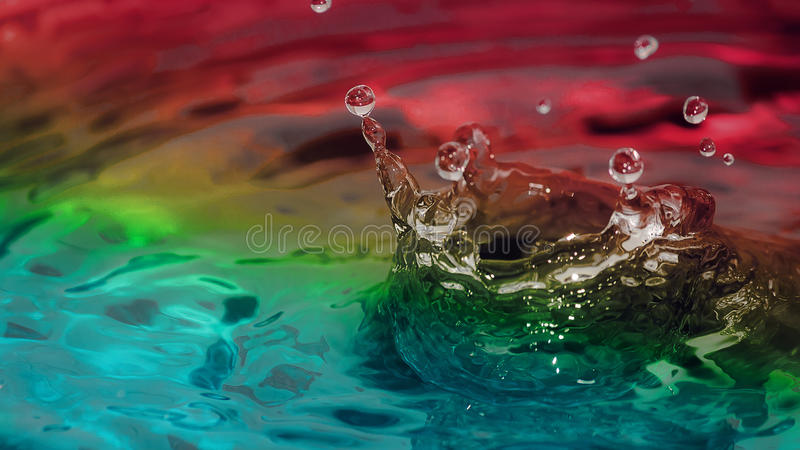 Water. Colourful water surface, abstract background royalty free stock photo