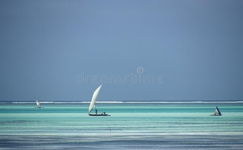 Water colours,Zanzibar,Tanzania stock photo