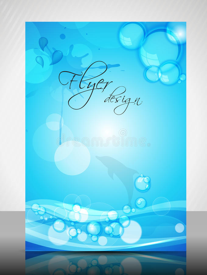 Download Water Concept Flyer Design stock vector. Image of marketing - 25999385