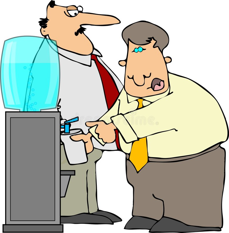 Download Water Cooler stock illustration. Image of office, male - 2298868