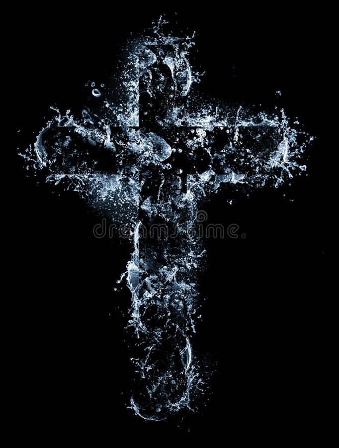 Water cross royalty free stock photography