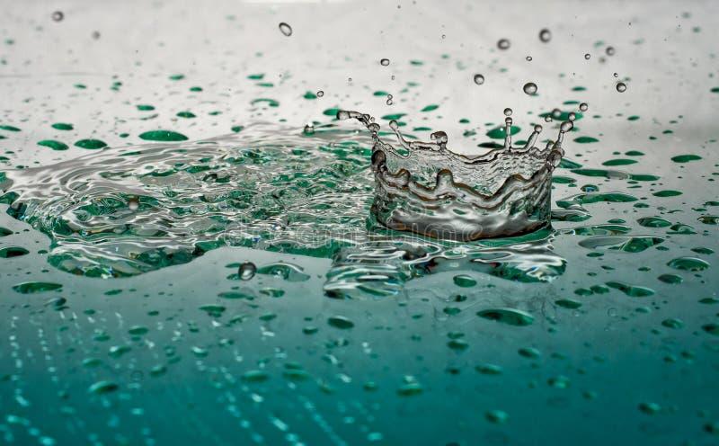 Water Crown. Water Splash Crown on Glass royalty free stock photos