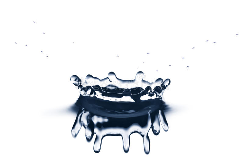 Water Crown Isolated Stock Photography