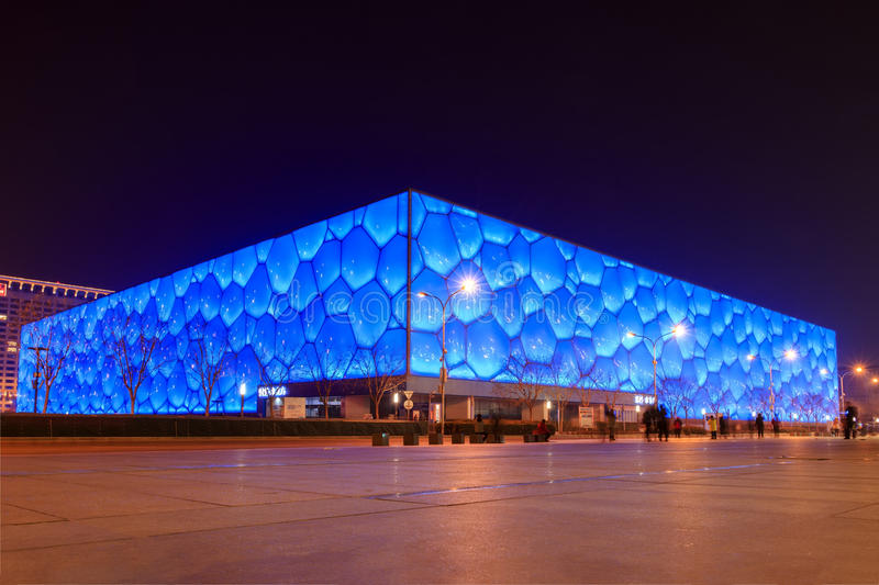 China National Swimming Center in beijing. The Beijing National Aquatics Center also officially known as the National Aquatics Center, and colloquially known as stock photography