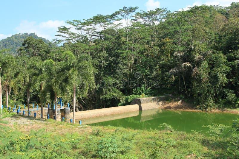 Bendungan Winong, Trenggalek - East Java Indonesia. Water dam Winong or Bendungan Winong in Watulimo, Trenggalek, East Java, Indonesia. Greenish water in the dam stock photo