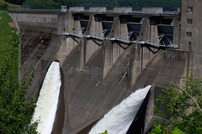 The Water and the Dam royalty free stock photography