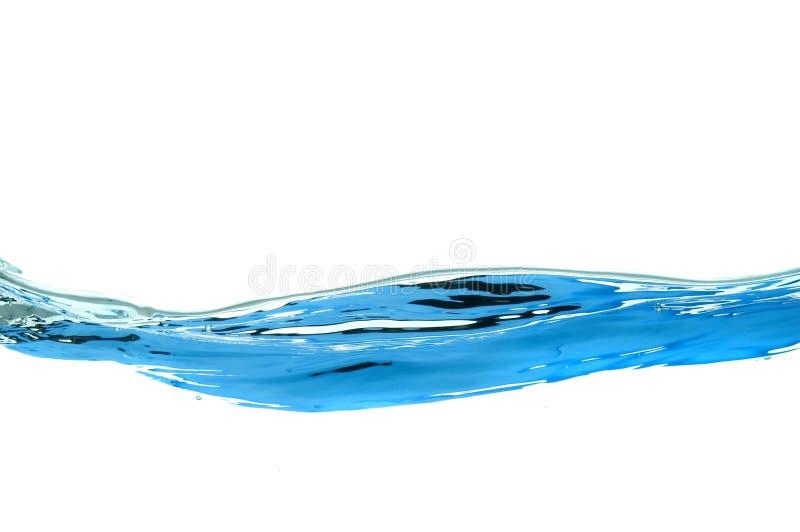 Water dat op wit wordt geïsoleerd stock foto's