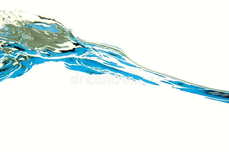 Water dat op wit wordt geïsoleerdd stock afbeeldingen