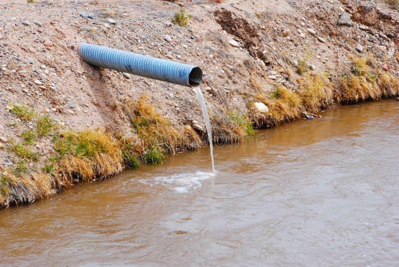 Water dat van een Pijp stroomt stock afbeelding