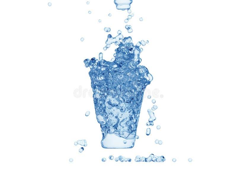 Water dat vorm van glas vormt royalty-vrije stock fotografie
