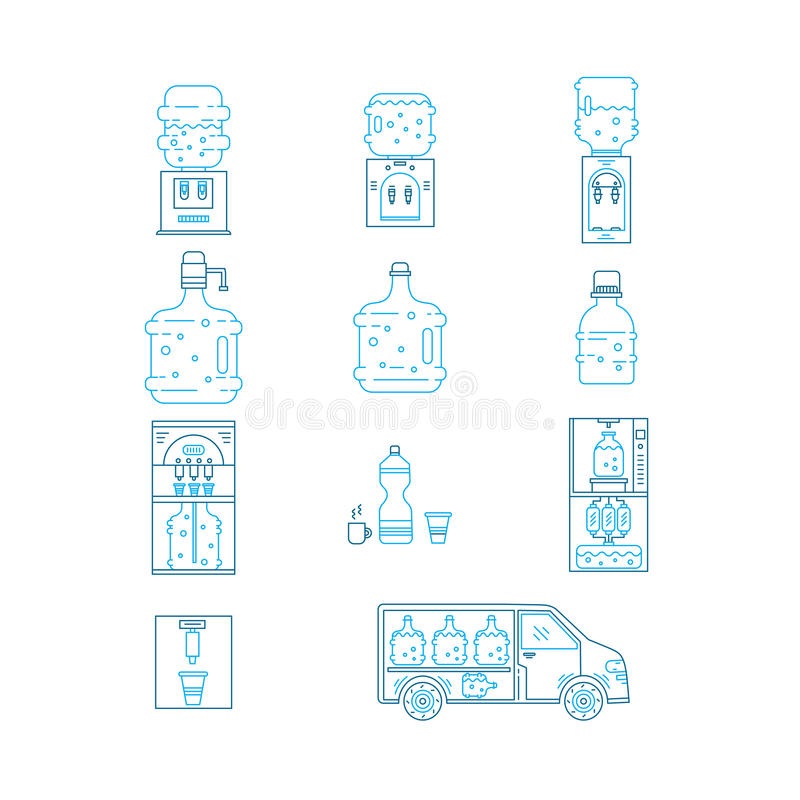 coupon code super cheap special sales Water delivery collections stock vector. Illustration of ...