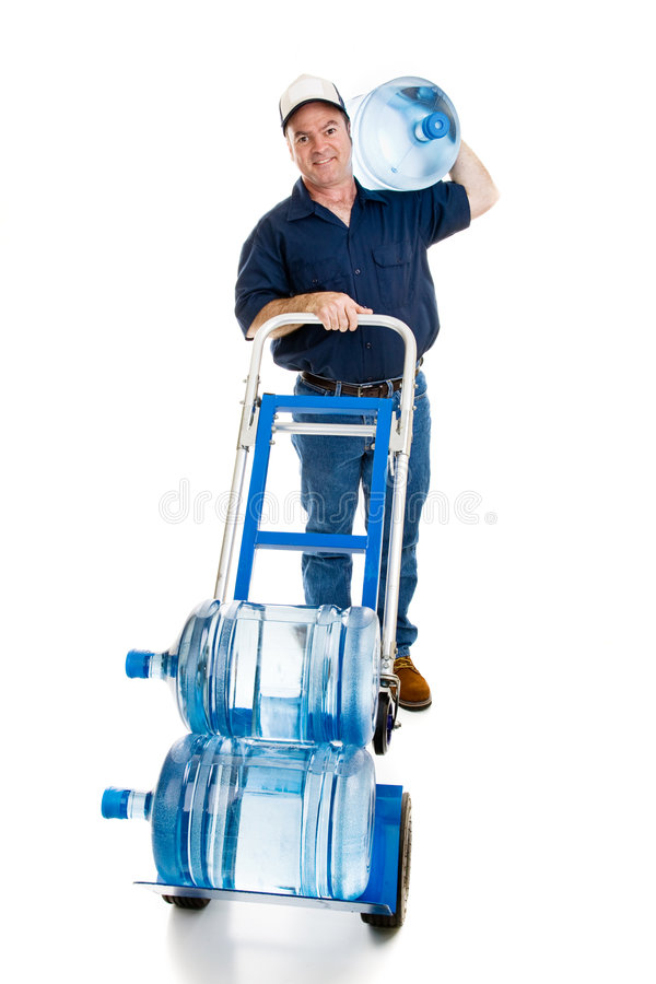 Water Delivery - Full Body Facing Forward royalty free stock photos