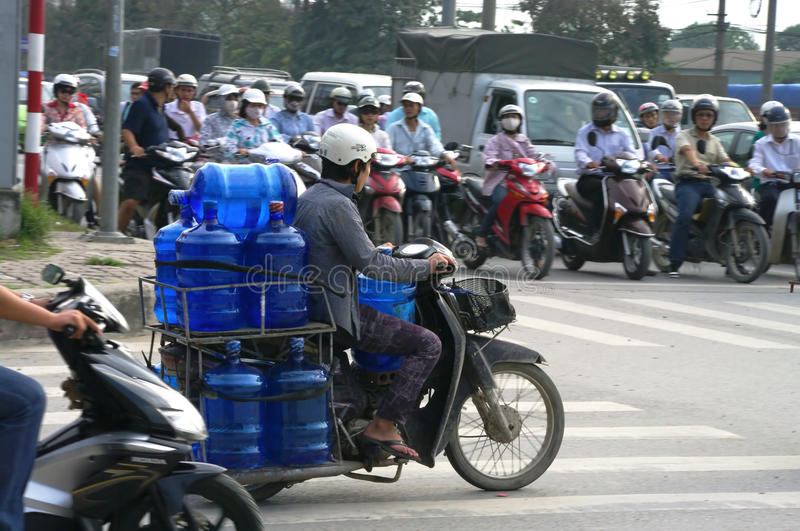 Download Water deliveryman editorial photo. Image of asia, person - 23473186