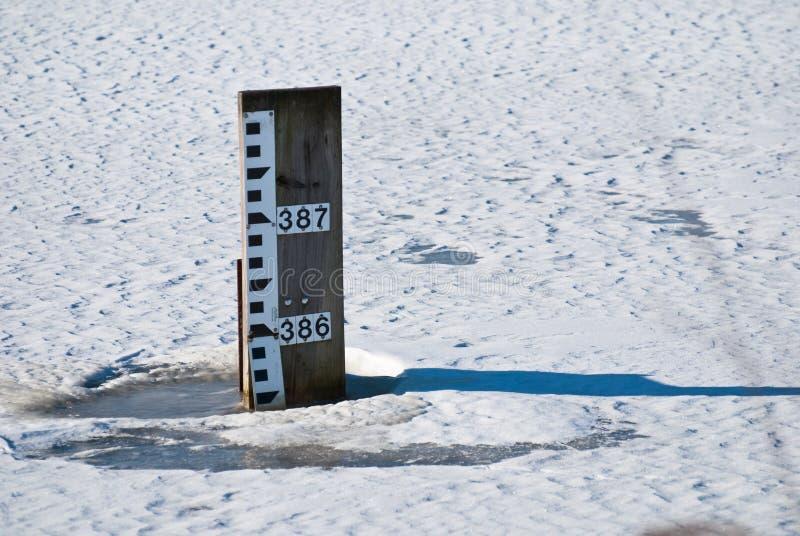 Download Water Depth Gauge stock photo. Image of ruler, cold, gauge - 23179148