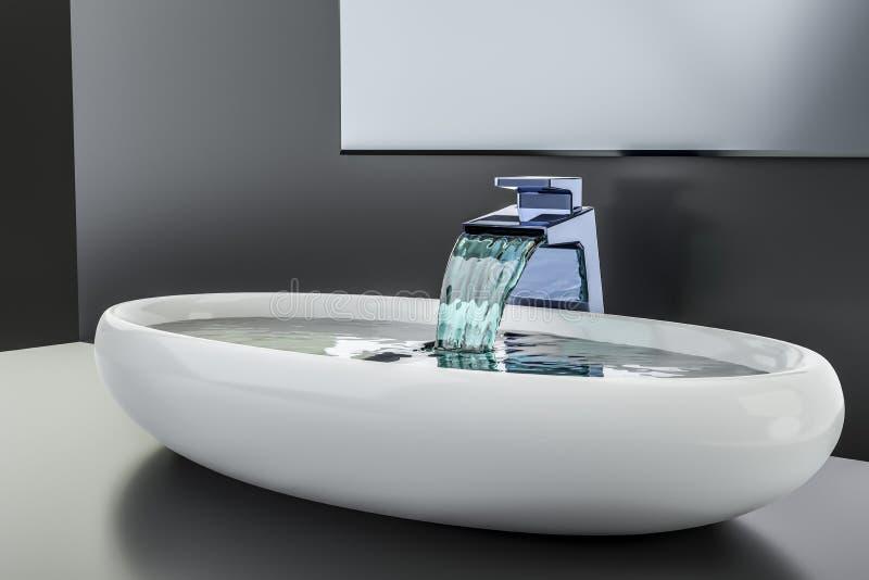 Water die in het bassin stromen royalty-vrije illustratie