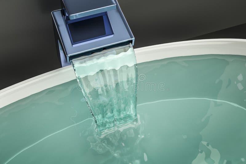 Water die in het bassin stromen vector illustratie