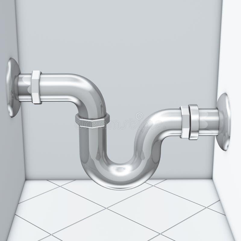 Water drain pipe vector illustration