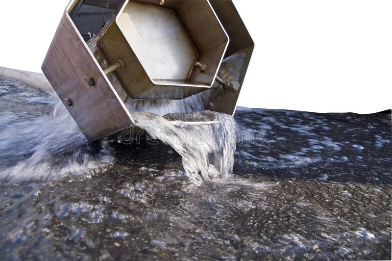 Download Water draining from pipe stock image. Image of infrastructure - 1713425