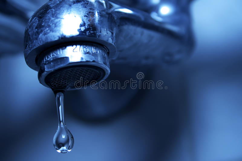 Water Dripping From Water Faucet, Closeup Stock Image