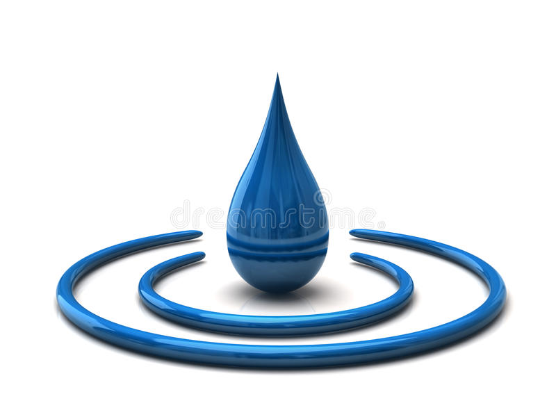 Download Water drop stock illustration. Image of drip, blue, energy - 22280530