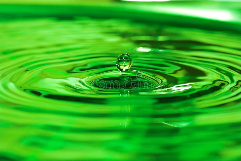 Download Water drop stock image. Image of green, ripple, water, rain - 671401