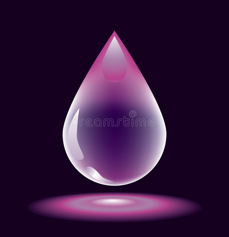 Water-drop. For various design artwork royalty free illustration
