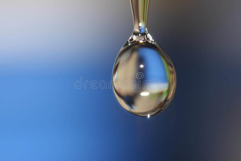 Water drop. Begin to fall stock photos