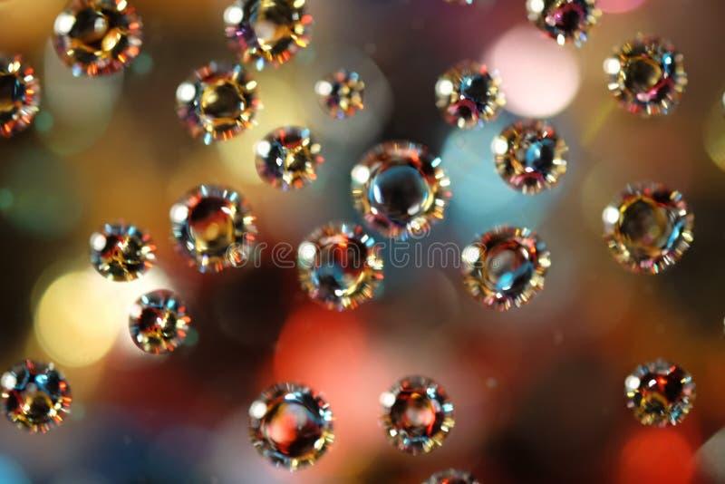 Water drop & Bokeh royalty free stock photos