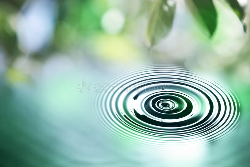 Water drop close up stock images