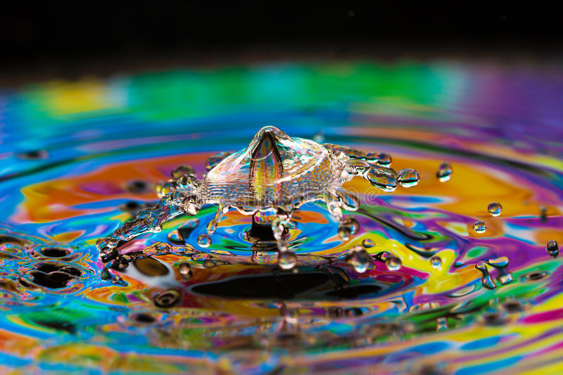 Water Drop Creations Royalty Free Stock Images