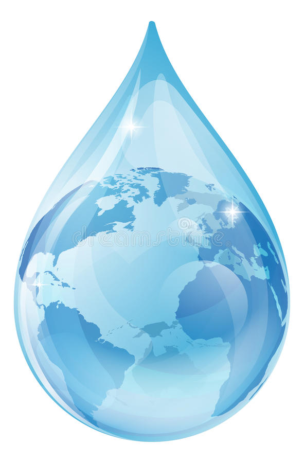 Water drop earth concept stock illustration