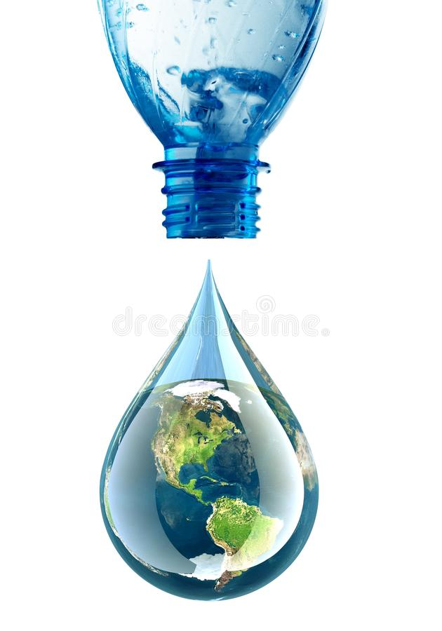 Water Drop. Earth Globe Homegrown Produce Environmental Conservation Clean Environment stock photography
